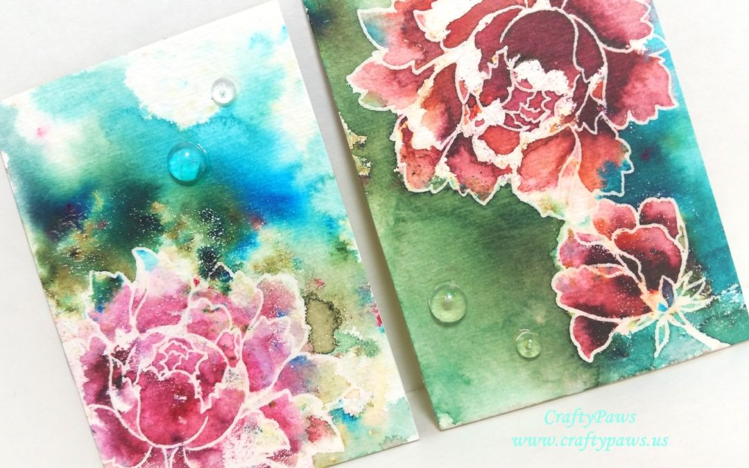 Easy Watercolored Artist Trading Cards