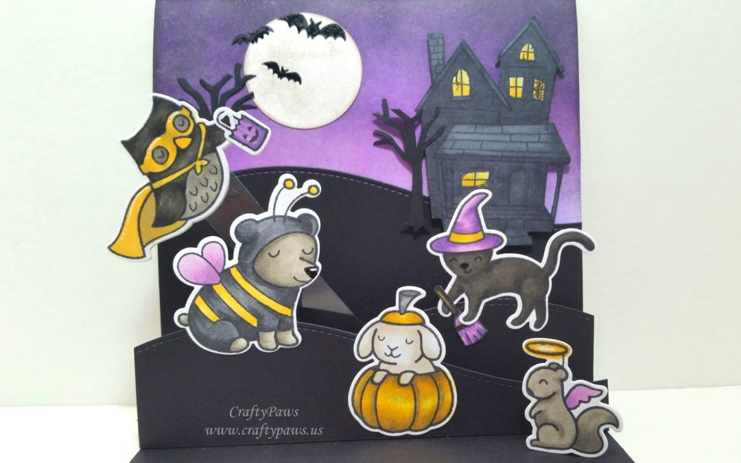 Interactive Halloween Pop Up Scene Card