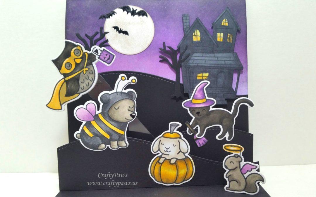 Interactive Halloween Pop Up Scene Card