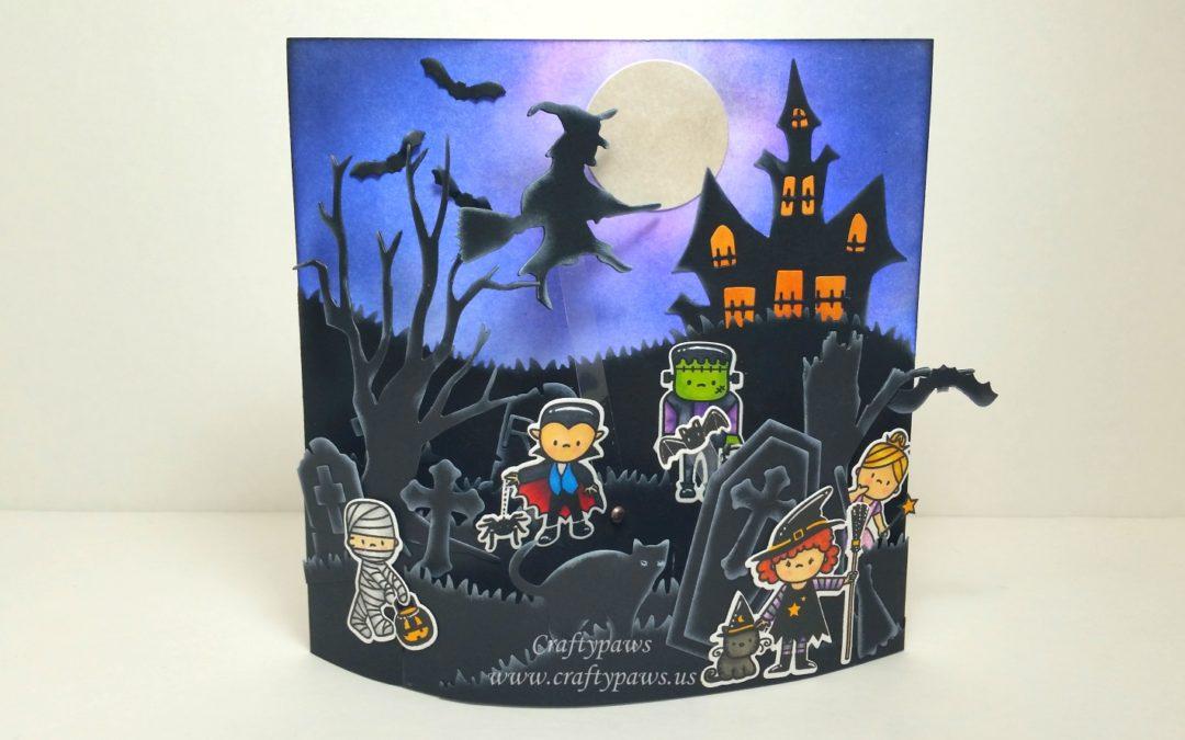Halloween Bendi Interactive Scene Card – Diemond Dies YT Hop!