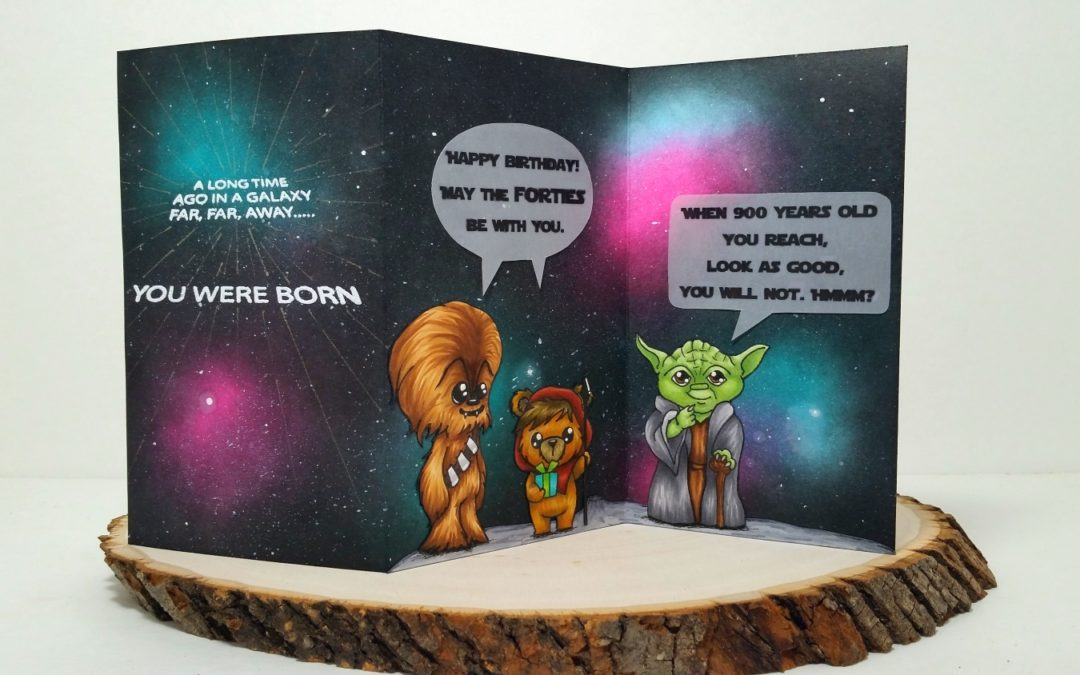 Star Wars Galaxy Birthday Card