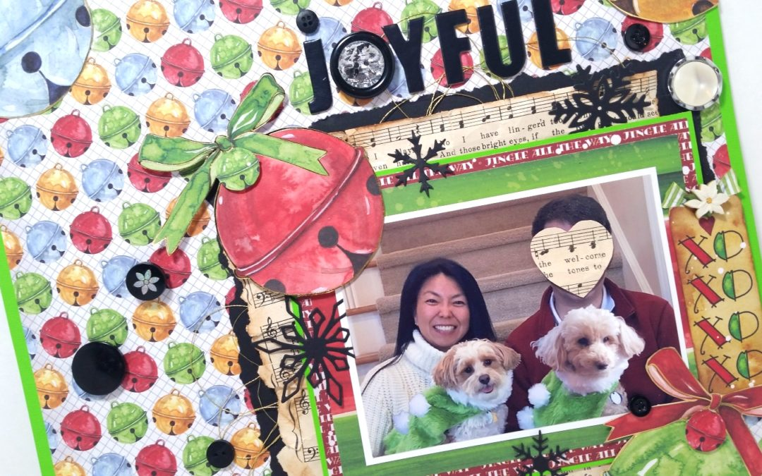 Joyful Christmas Family Portrait Layout