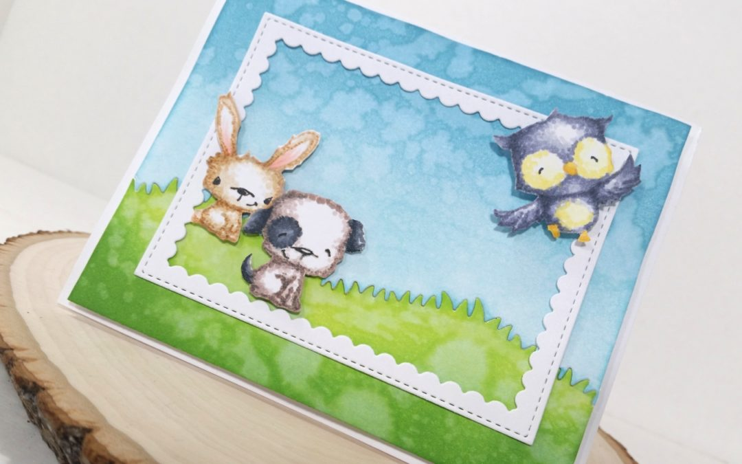 Softly Colored Critters for a Get Well/We're Rooting for You Card
