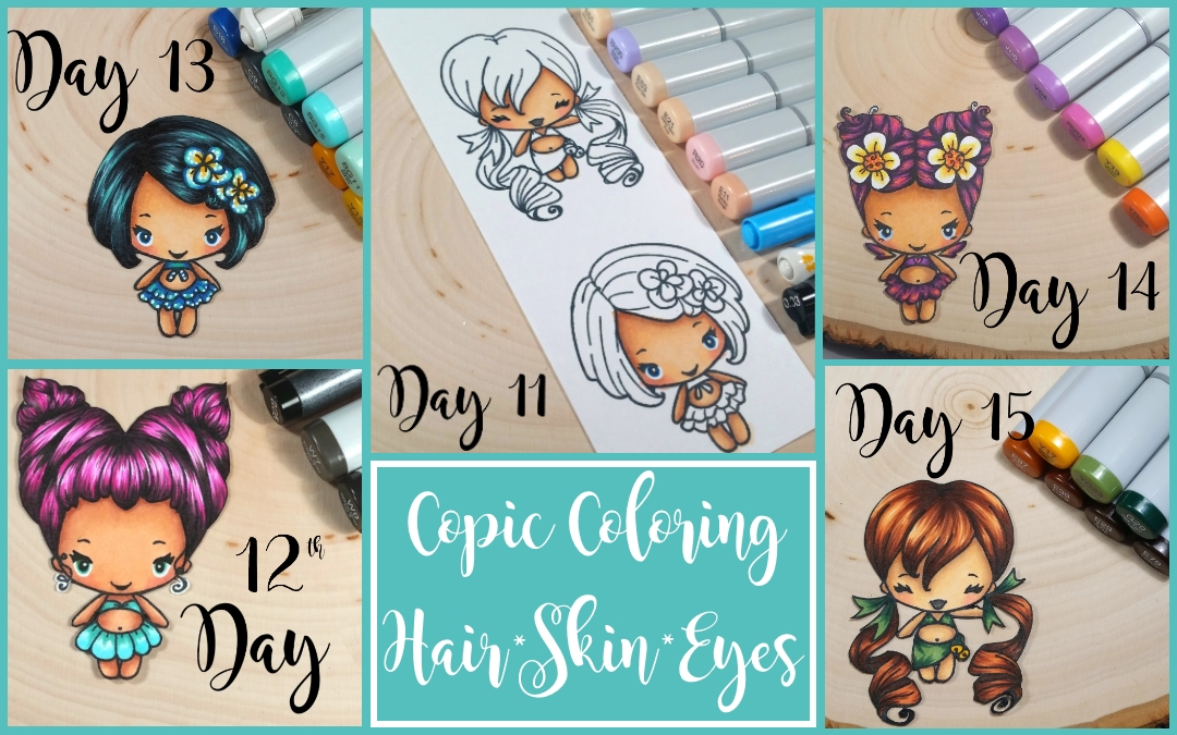 Copic Coloring Series: Hair, Skin and Eyes | CraftyPaws