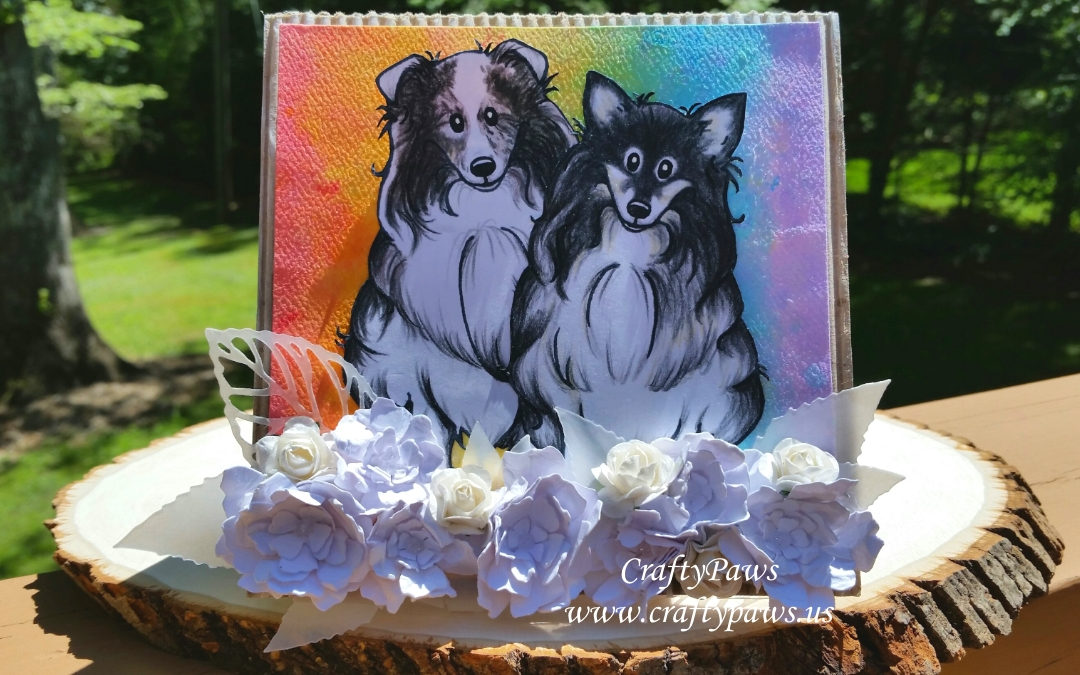Sympathy Card + FREEBIE Sheltie Digis