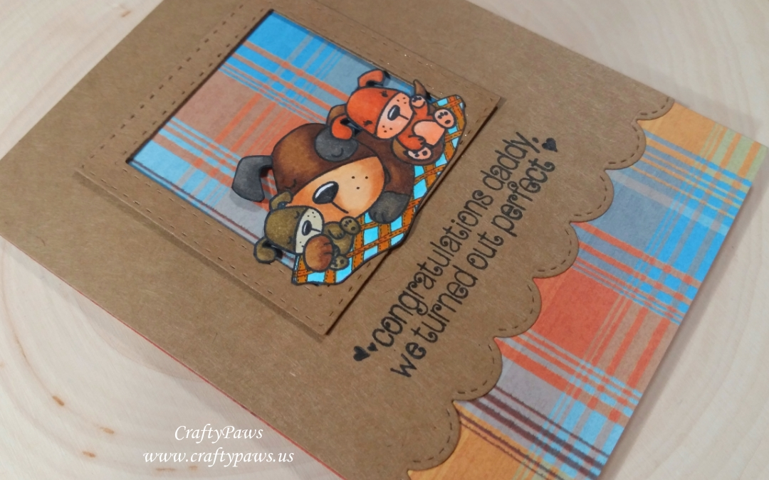 Puppy Love Fathers Day Card