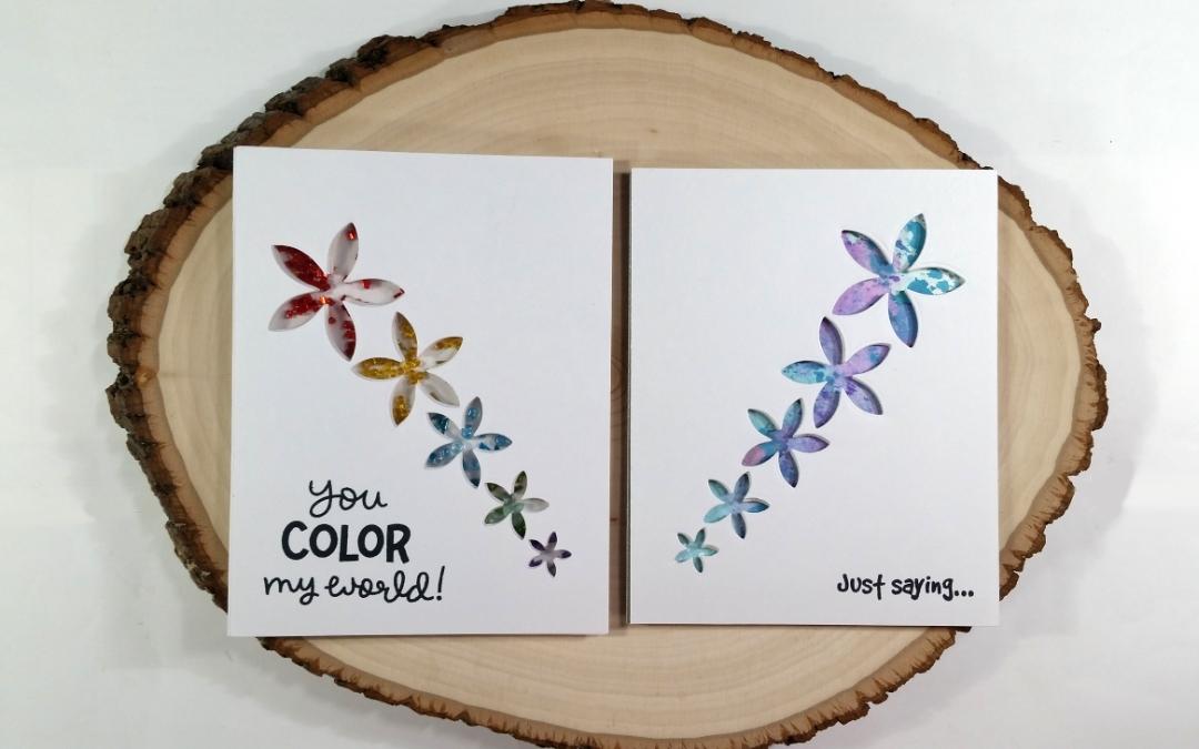 CAS Floral Cards