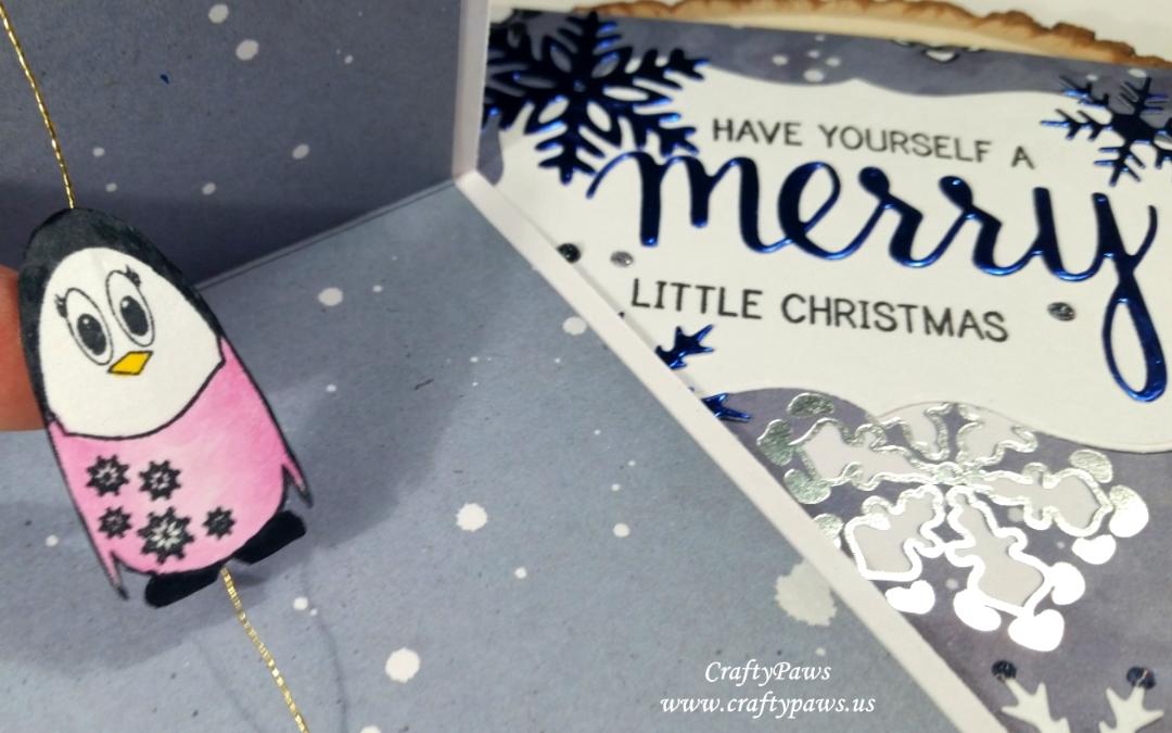 Christmas Penguins Spinner Cards!
