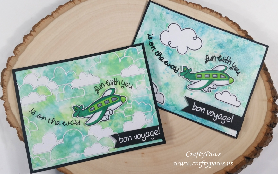 Bon Voyage Cards with Distress and Distress Oxide Inks!