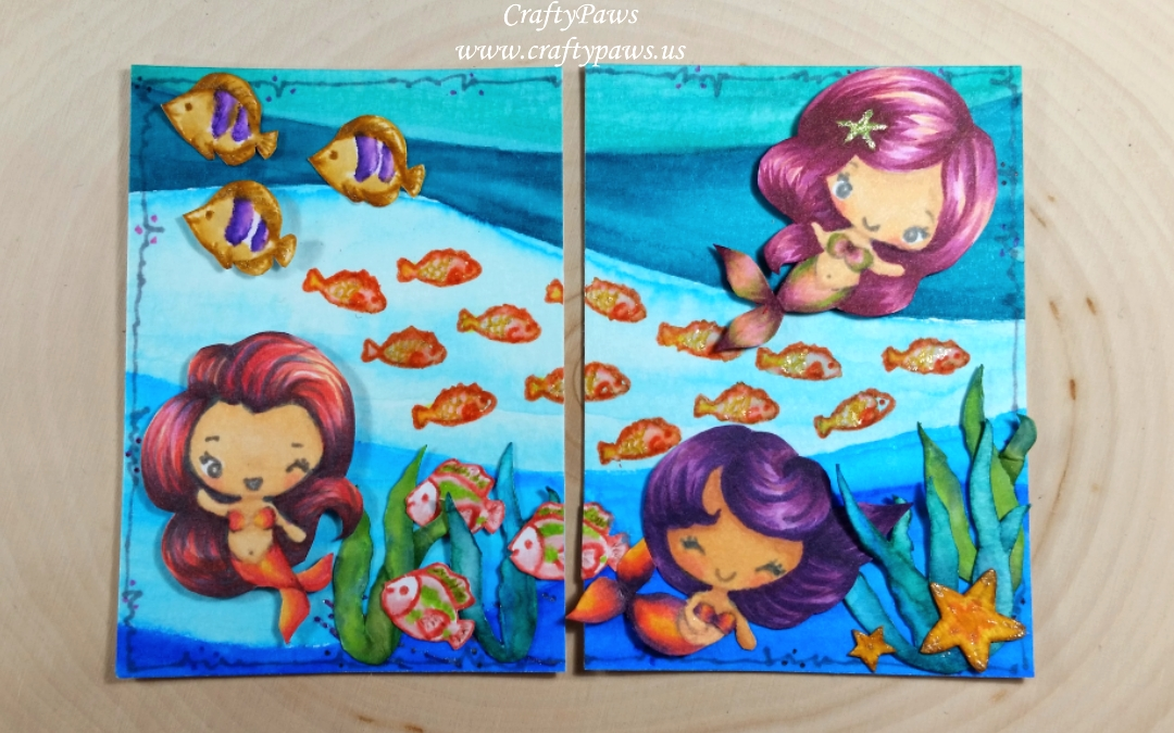 Mermaids Under the Sea ATCs