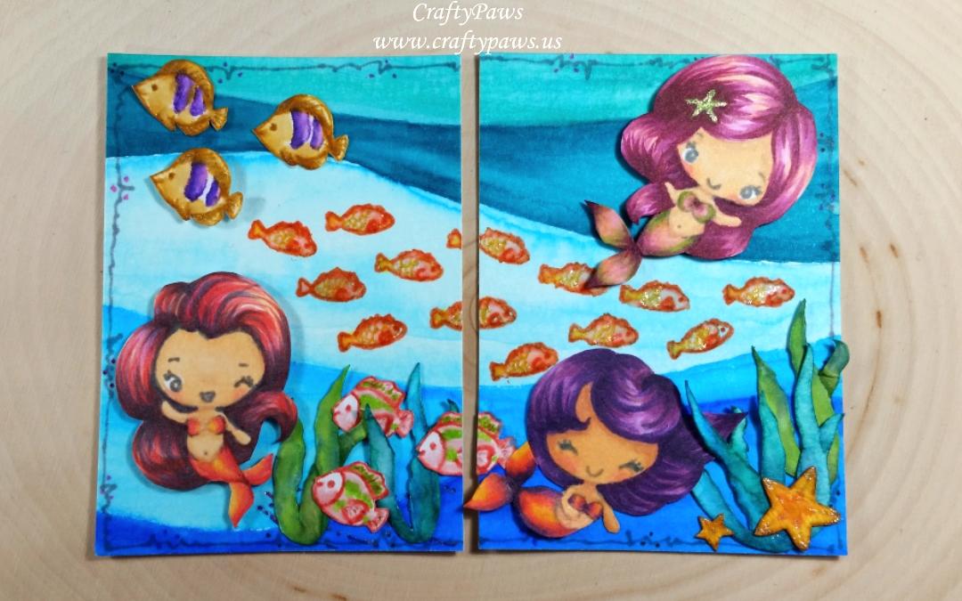 Mermaids Under the Sea ATCs
