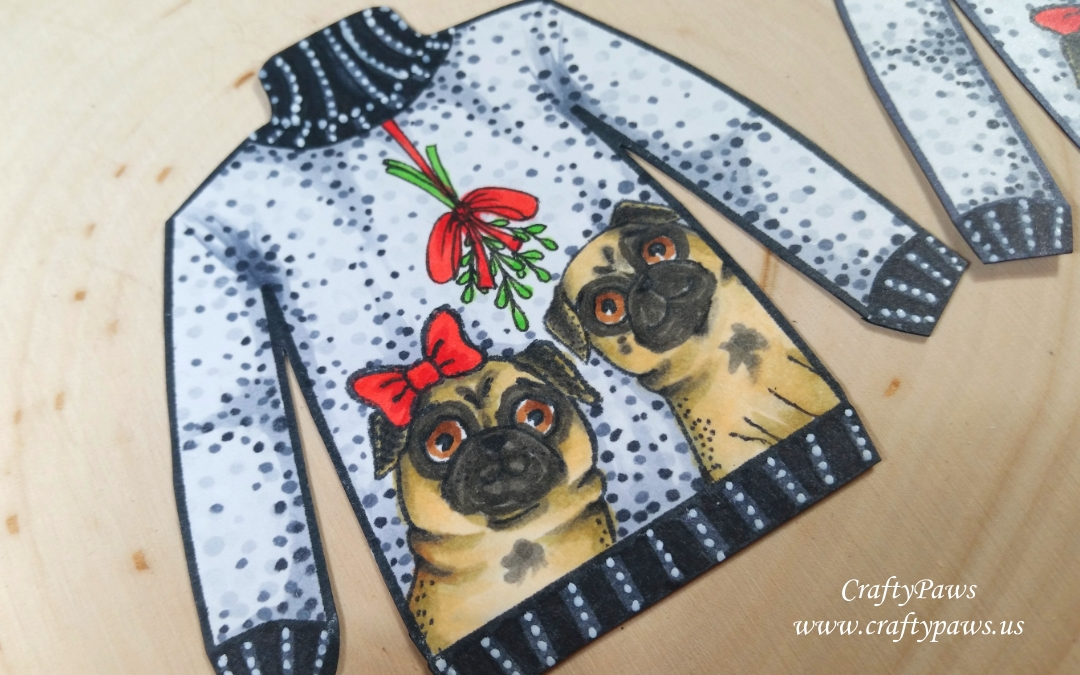 Puggly Christmas Sweater Ornament