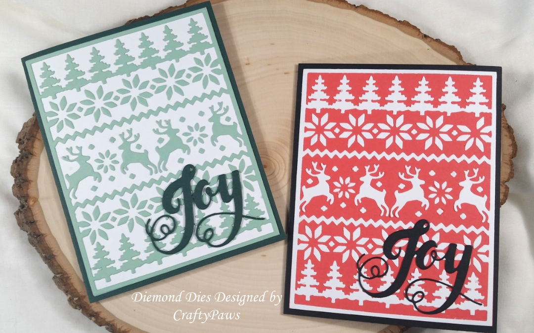 Joyful Cozy Ugly Sweater Cards: NEW Holiday Diemond Dies Designed by Me!