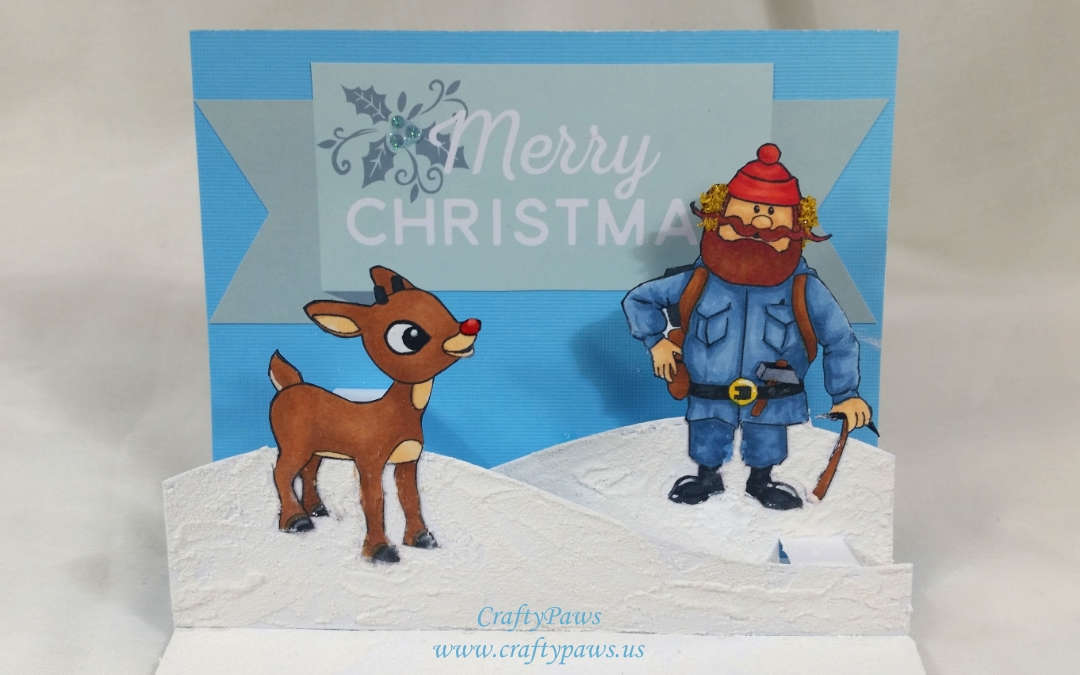 Rudolph the Red Nosed Reindeer Pop Up Card