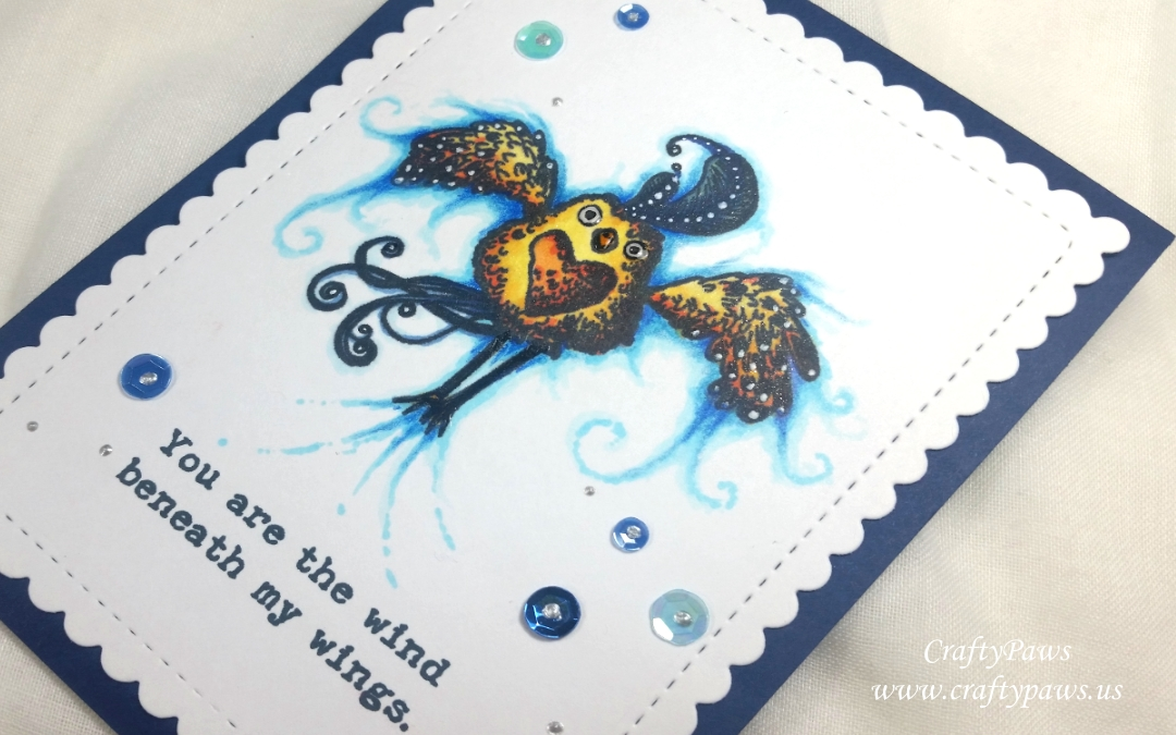Your Are The Wind Beneath My Wings: Topflight Stamps DTP