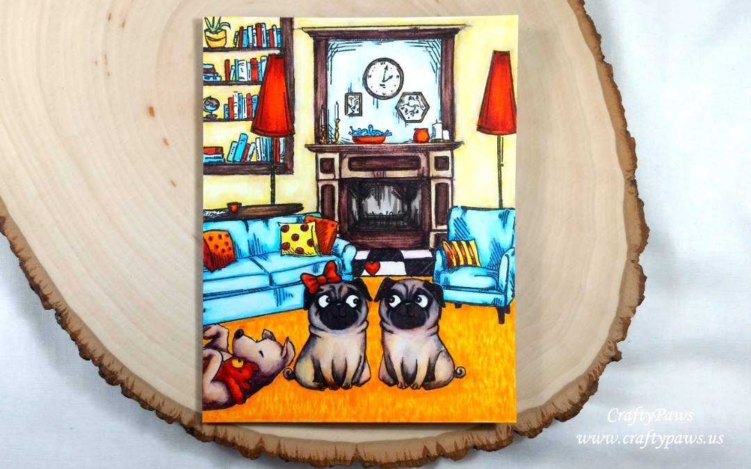 Home is Where the Dogs Are – Custom Scene Card