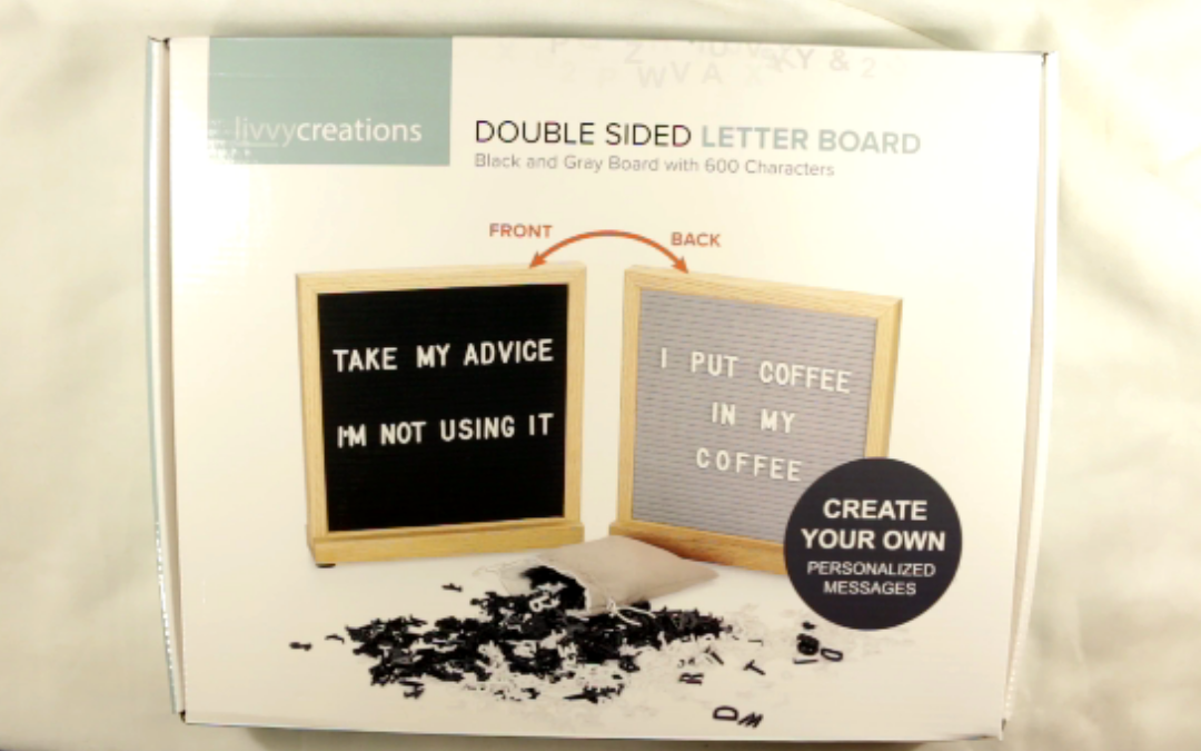 Deluxe Double Sided Letter Board Giveaway *CLOSED*