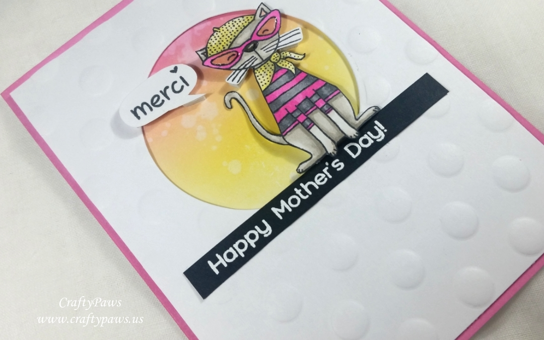 Parisian Kitty Mother's Day Card