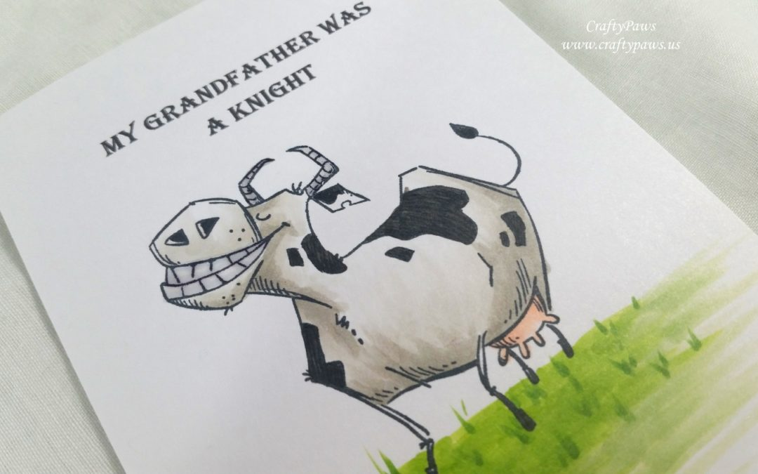 Funny Farm Cow Card