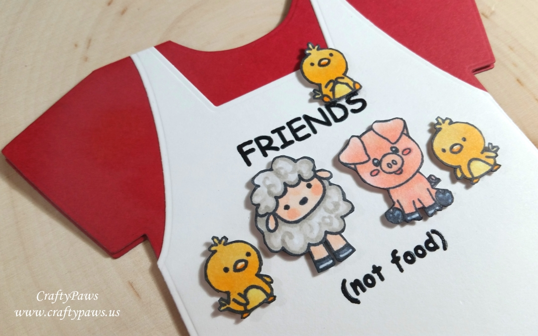 Cute Critters are Friends (not food) Shaped Card