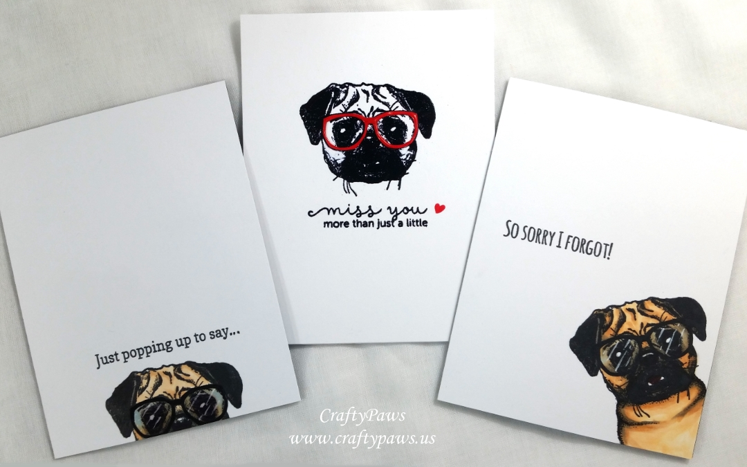 Simple but Full of Personality Pug Dog Cards