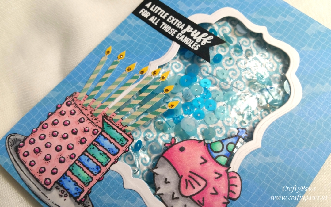 Water Shaker Birthday Card Scrapbooking For Less Gdtp Craftypaws