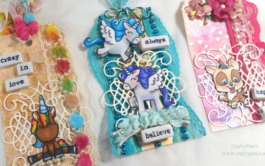 Unicorn Tag Embellishments – YT Hop with Lots of Prizes!