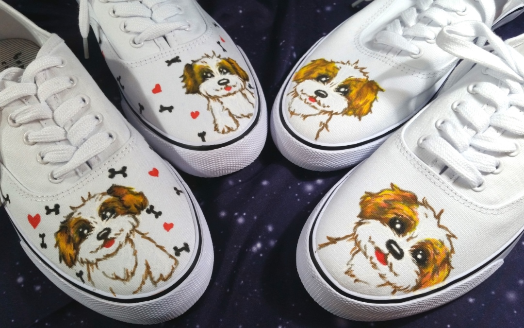 Customized Puppy Tennis Shoes!