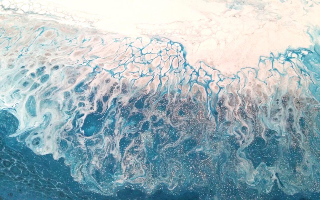 Acrylic Flow Art #10: Wave II