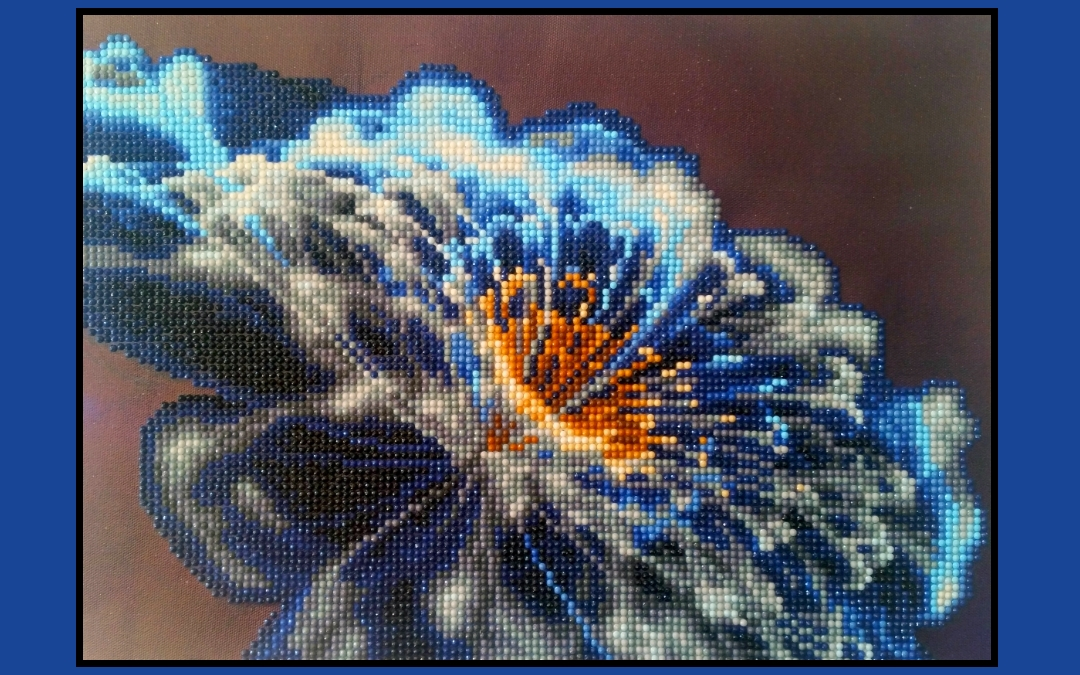 My 2nd Diamond Painting – Floral Close-Up