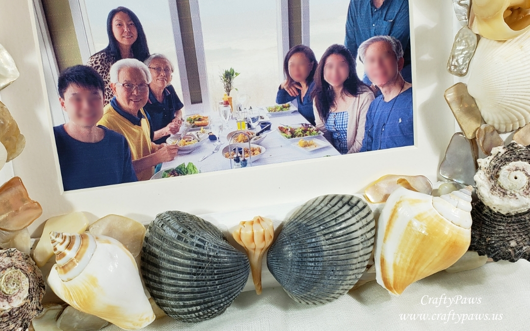 Special Seashell Keepsake Frame