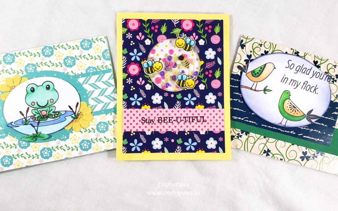 3 Spring Critters Cards | Scrapping For Less April 2019 Blog Hop