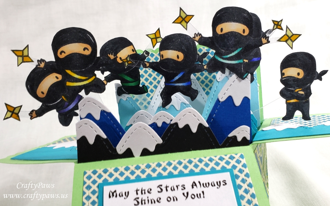 Ninja Clan Pop Up Box Card