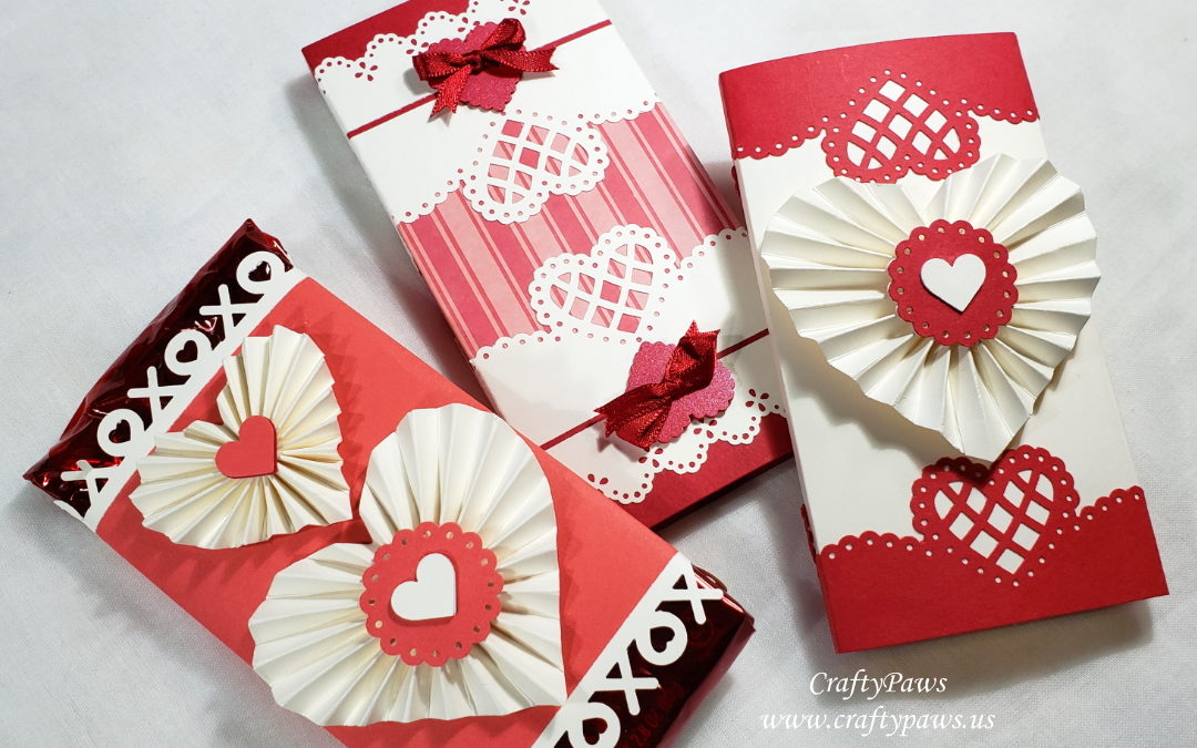 Heart Rosettes and Gift Wrapping Chocolates
