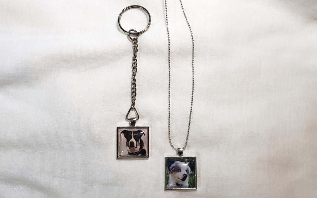 Doggy Keychain and Necklace