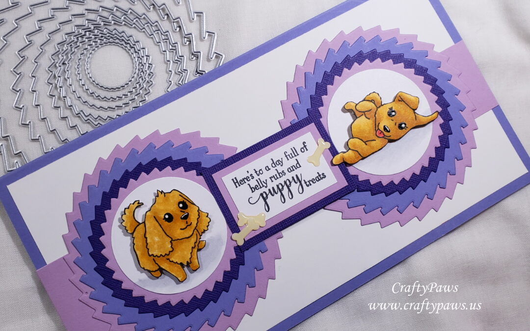 New Puppy Card with Inloveartshop and Gina K Designs