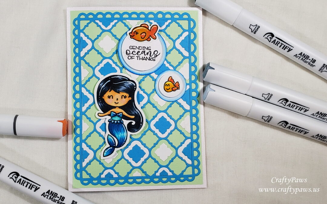 Thank You Card Coloring With Artify Markers!